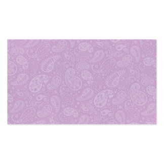 Lilac Paisley Floral Pack Of Standard Business Cards
