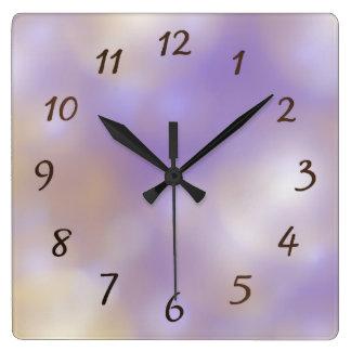 lilac pattern clock