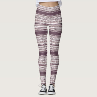 Lilac Pattern Leggings