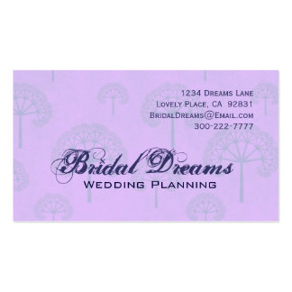 Lilac Periwinkle Trees Customizable Business Card