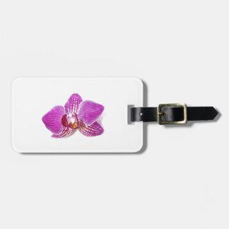 Lilac phalaenopsis floral aquarel painting luggage tag