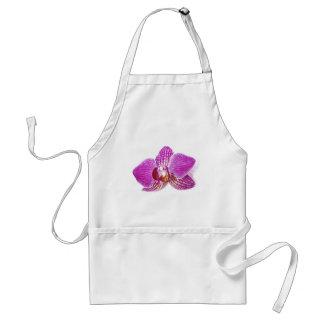 Lilac phalaenopsis floral aquarel painting standard apron