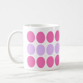 Lilac & Pink Dots Pattern mug