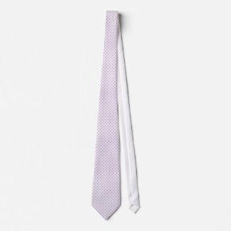 Lilac polka dot pattern tie