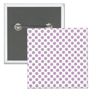 Lilac Polka Dots 15 Cm Square Badge