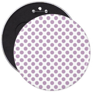 Lilac Polka Dots 6 Cm Round Badge