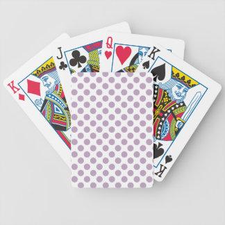 Lilac Polka Dots Bicycle Playing Cards