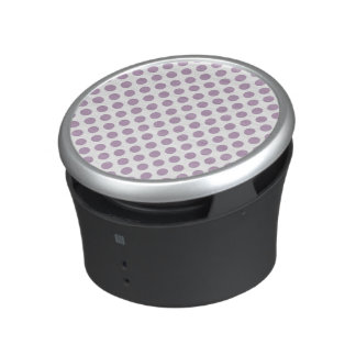 Lilac Polka Dots Bluetooth Speaker