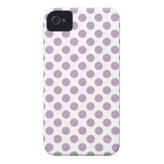 Lilac Polka Dots Case-Mate iPhone 4 Cases