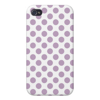 Lilac Polka Dots Cases For iPhone 4