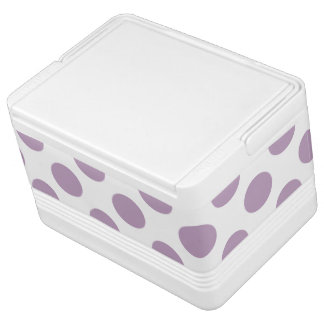 Lilac Polka Dots Cooler