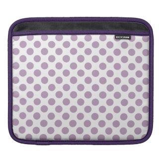 Lilac Polka Dots iPad Sleeve