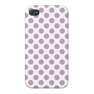 Lilac Polka Dots iPhone 4/4S Case