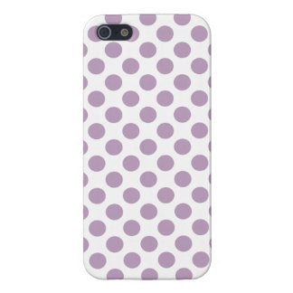 Lilac Polka Dots iPhone 5 Cases