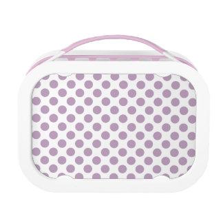 Lilac Polka Dots Lunchbox