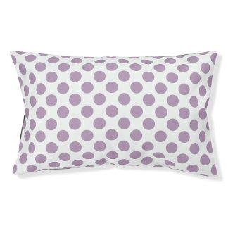 Lilac Polka Dots Pet Bed