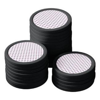 Lilac Polka Dots Poker Chips