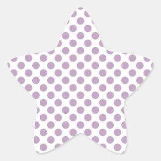 Lilac Polka Dots Star Sticker