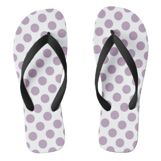 Lilac Polka Dots Thongs