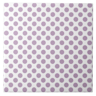 Lilac Polka Dots Tile