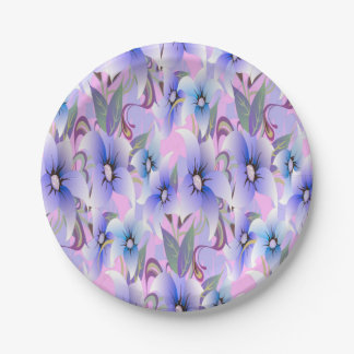 Lilac Poppies Paper Plate