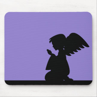 Lilac Praying Angel Mousepad
