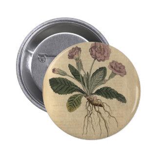 Lilac Primrose 6 Cm Round Badge