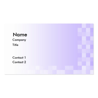 Lilac Purple and White Squares Pattern. Double-Sided Standard Business Cards (Pack Of 100)