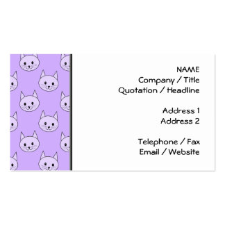 Lilac Purple cat pattern. Pack Of Standard Business Cards