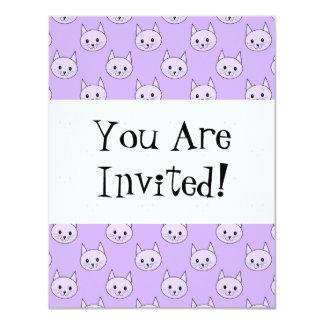 Lilac Purple cat pattern. Card