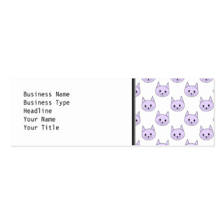 Lilac Purple cat pattern. Pack Of Skinny Business Cards