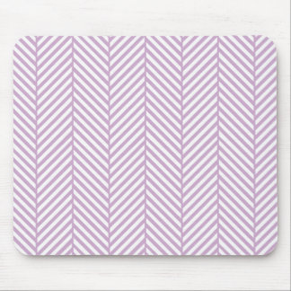 Lilac Purple Herringbone Mouse Pad