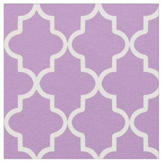 Lilac Purple Moroccan Quatrefoil Fabric