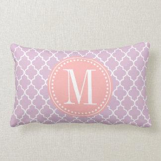 Lilac Purple Moroccan Tiles Lattice Personalized Lumbar Pillow