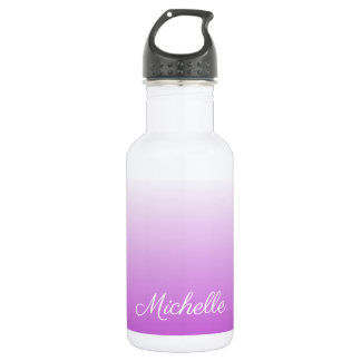 Lilac purple ombre personalized name 532 ml water bottle
