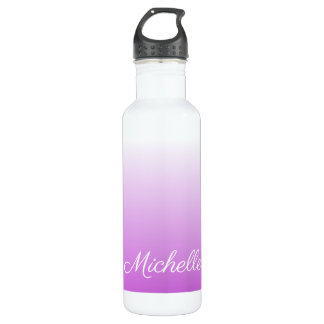 Lilac purple ombre personalized name 710 ml water bottle