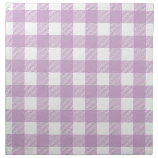 Lilac Purple Preppy Buffalo Check Plaid Napkin