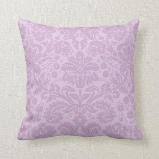 Lilac Purple Vintage Damask Throw Cushions