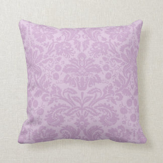 Lilac Purple Vintage Damask Throw Cushions
