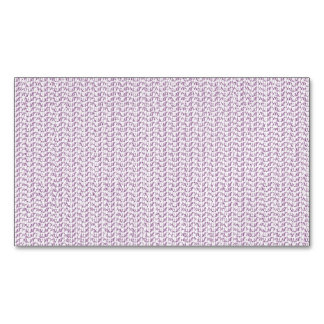 Lilac Purple Weave Look Magnetic Business Cards (Pack Of 25)