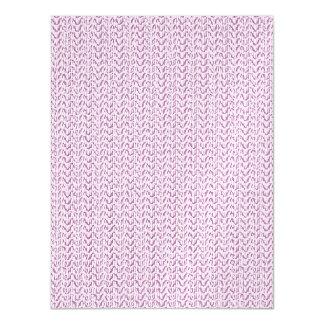 Lilac Purple Weave Look Magnetic Invitations
