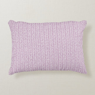Lilac Purple Weave Mesh Look Decorative Cushion
