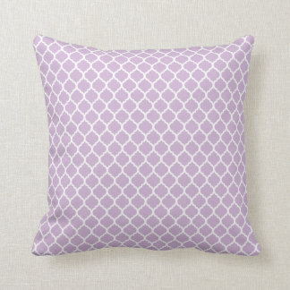 Lilac Quatrefoil Throw Pillow