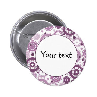 Lilac retro design 6 cm round badge