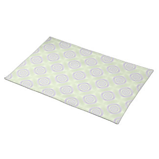 Lilac Rings on Green American MoJo Placemats