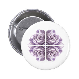 Lilac Rose Abstract 6 Cm Round Badge