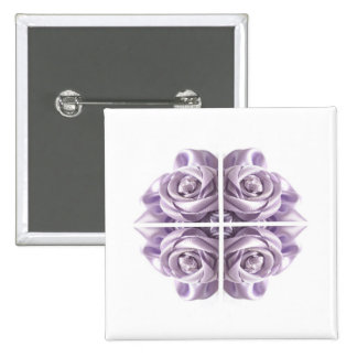 Lilac Rose Abstract Button