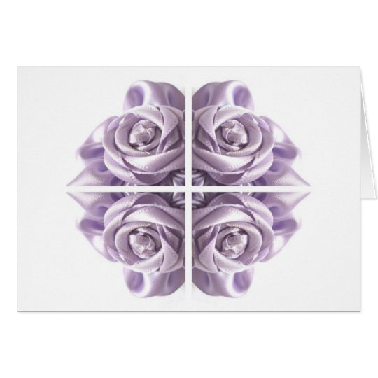 Lilac Rose Abstract Card