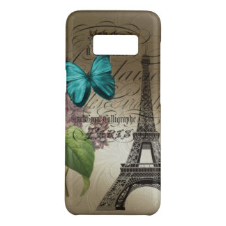 lilac scripts modern vintage paris eiffel tower Case-Mate samsung galaxy s8 case