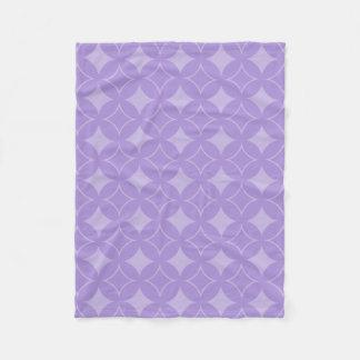 Lilac shippo pattern fleece blanket